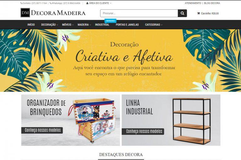 Loja virtual Decora Madeira